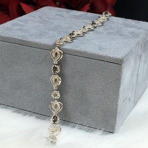 Sterling Silver & Smoky Topaz Bracelet